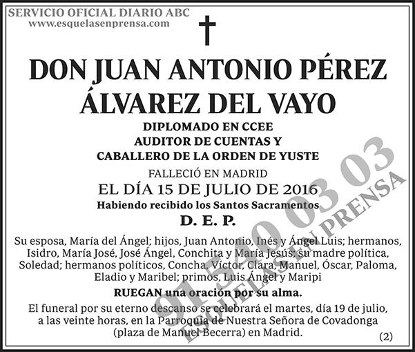 Juan Antonio Pérez Álvarez del Vayo
